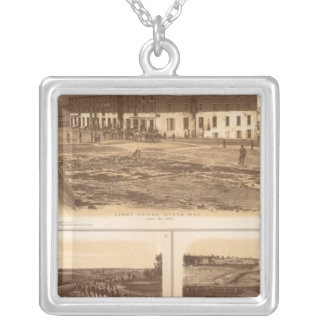 Capitol, Richmond Libby Prison Silver Plated Necklace
