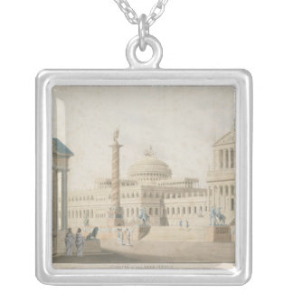Capitol, set for 'La clemeza di Tito' by Silver Plated Necklace