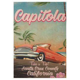 Capitola California Vintage travel poster Wood Poster