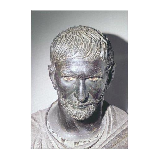Capitoline Brutus, 4th-3rd century BC Canvas Print