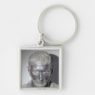 Capitoline Brutus, 4th-3rd century BC Silver-Colored Square Key Ring