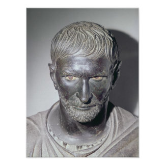 Capitoline Brutus, 4th-3rd century BC Poster