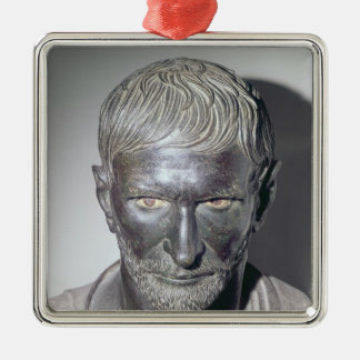 Capitoline Brutus, 4th-3rd century BC Silver-Colored Square Decoration