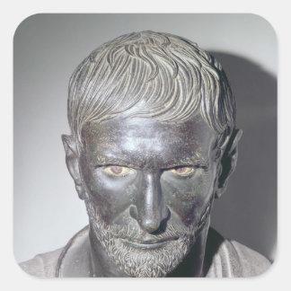 Capitoline Brutus, 4th-3rd century BC Square Sticker