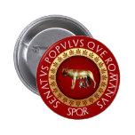 Capitoline Wolf 6 Cm Round Badge