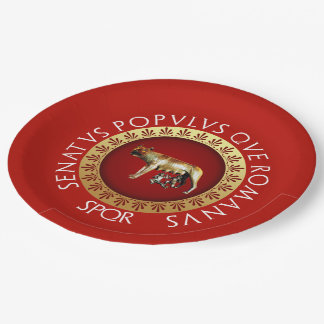 Capitoline Wolf 9 Inch Paper Plate