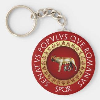 Capitoline Wolf Basic Round Button Key Ring