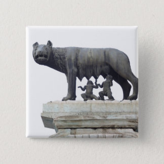Capitoline Wolf Statue (She-wolf suckling), 15 Cm Square Badge
