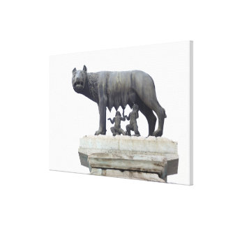Capitoline Wolf Statue (She-wolf suckling), Canvas Print