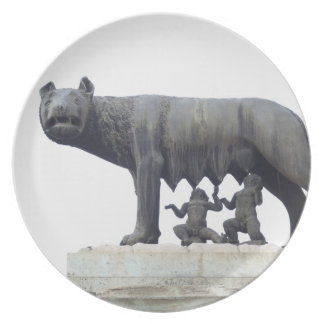 Capitoline Wolf Statue (She-wolf suckling), Dinner Plates