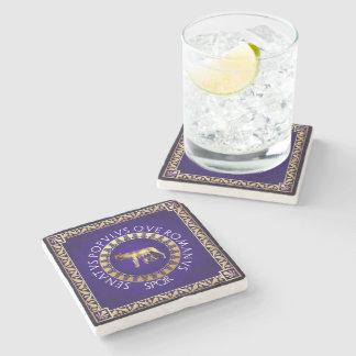 Capitoline Wolf Stone Beverage Coaster