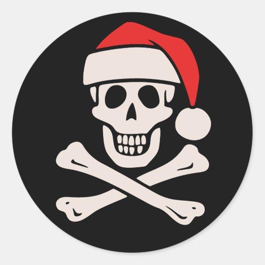 Cap'n Claus Classic Round Sticker