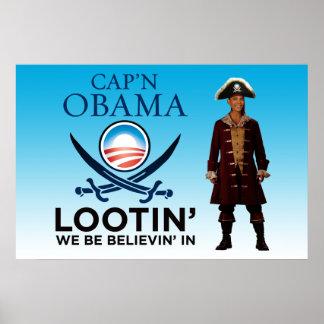 Capn-Obama-Lootin-poster Poster