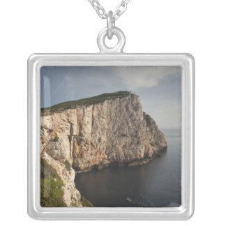 Capo Caccia, Alghero, Sardinia, Italy Silver Plated Necklace