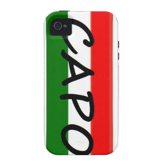 CAPO capo means BOSS in italian and spanish Case-Mate iPhone 4 Cover