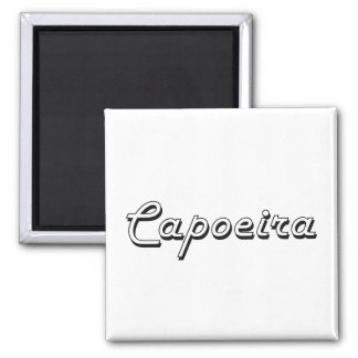 Capoeira Classic Retro Design Square Magnet