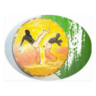 capoeira ginga axe post card