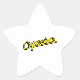 Capoeira in yellow star sticker