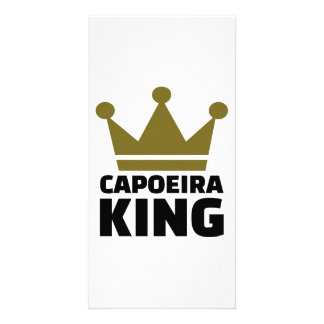 Capoeira king customized photo card