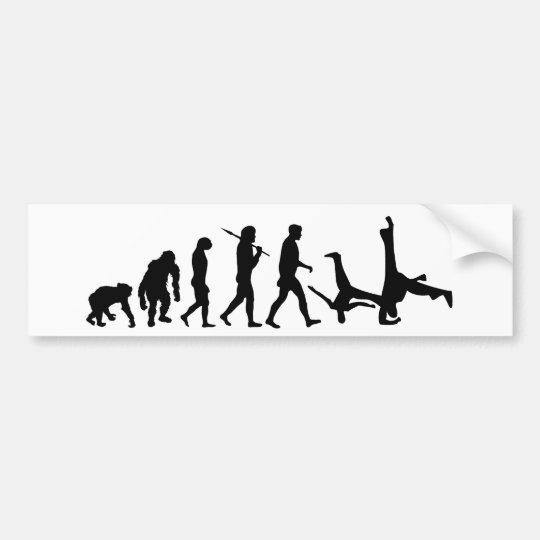 Capoeira martial arts dance evolution gift bumper sticker