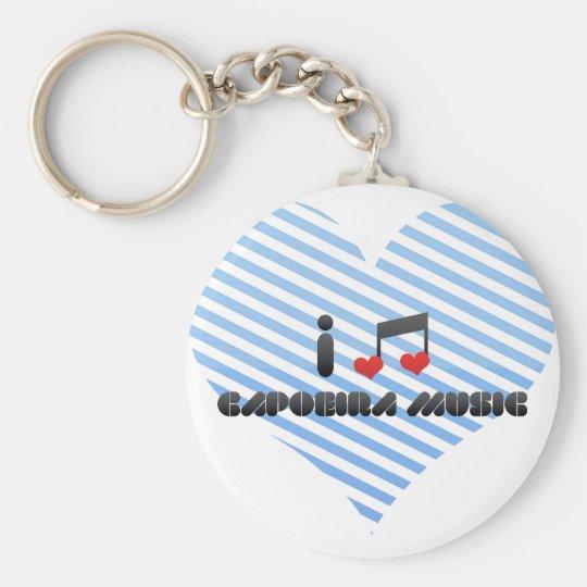 Capoeira Music Basic Round Button Key Ring