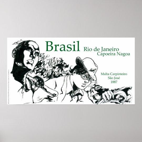 Capoeira Nagoa Brasil Poster