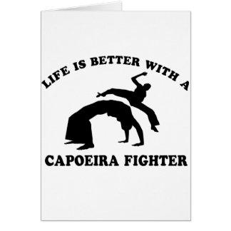 Capoeira Vector Design Greeting Card