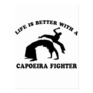 Capoeira Vector Design Postcard