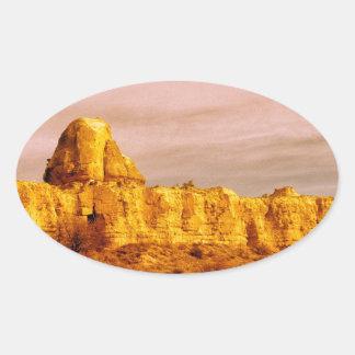 Cappadocia Scene 80 Oval Sticker