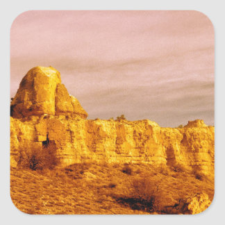 Cappadocia Scene 80 Square Sticker
