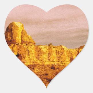 Cappadocia Scene 80 Heart Sticker
