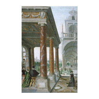 Cappricio of palace architecture canvas print
