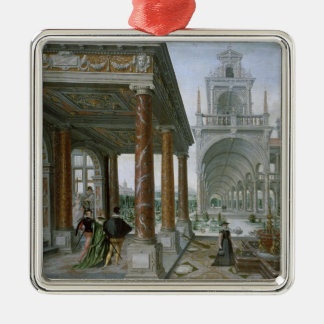 Cappricio of palace architecture christmas ornament