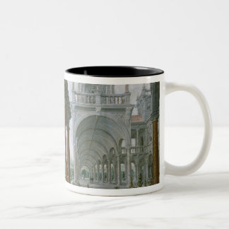 Cappricio of palace architecture Two-Tone coffee mug