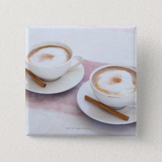 Cappuccino 15 Cm Square Badge