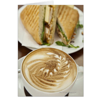 Cappuccino and panini lunch card
