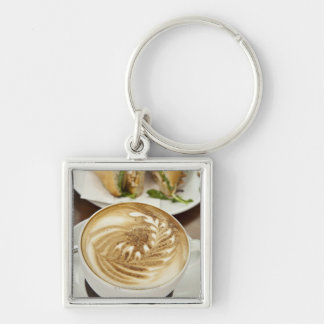 Cappuccino and panini lunch key ring