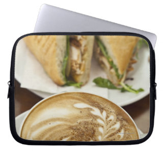 Cappuccino and panini lunch laptop sleeve