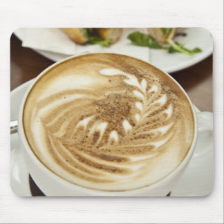 Cappuccino and panini lunch mouse mat