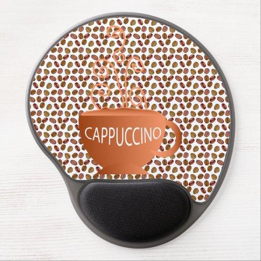 Cappuccino Beans Gel Mouse Mat