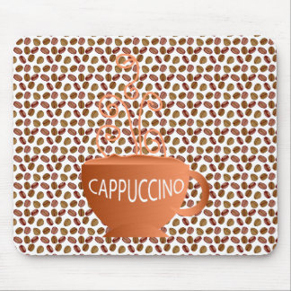 Cappuccino Beans Mouse Pad