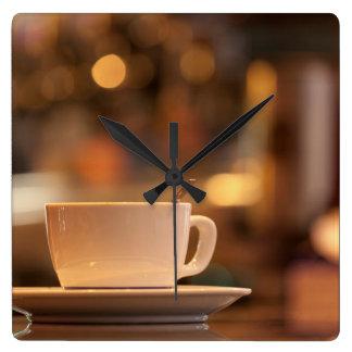 Cappuccino coffee, Venice, Italy Square Wall Clock