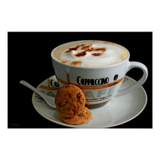 Cappuccino & cookies poster