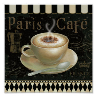 Cappuccino Cup Poster