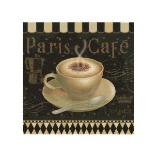 Cappuccino Cup Wood Print