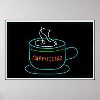 Cappuccino Neon Sign Print