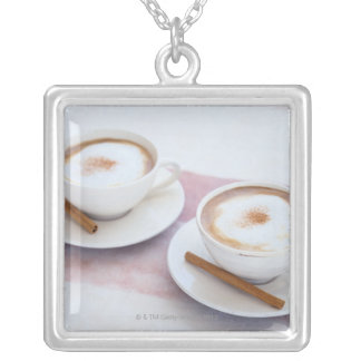Cappuccino Silver Plated Necklace