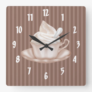 Cappuccino Square Wall Clock
