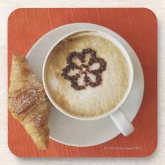 Cappuccino with chocolate and a croissant, Italy Coaster
