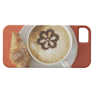 Cappuccino with chocolate and a croissant, Italy iPhone 5 Cases